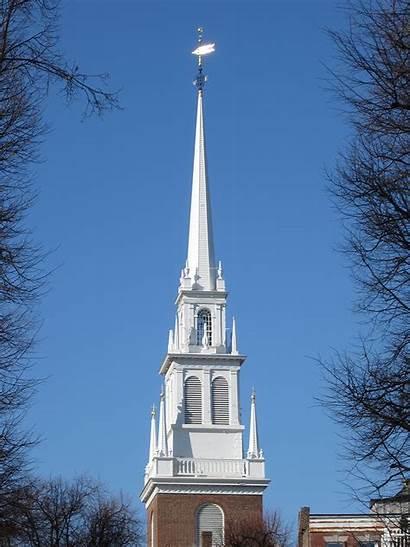 Church North Boston Belfry Park Spire Historical