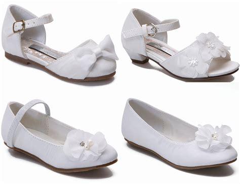 Wedding Sandals : Girls Ivory Wedding Shoes Bridal Bridesmaid Shoes Infant