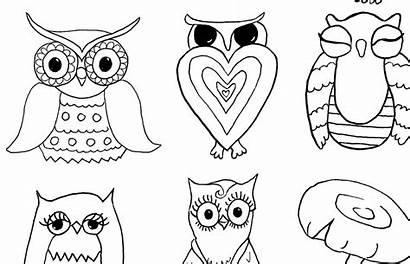 Coloring Mushrooms Owls Fairy Graphics