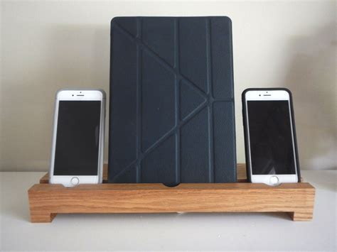 iphone 6 desk stand trinal iphone 6 ipad air wood desk stand holder smartphone
