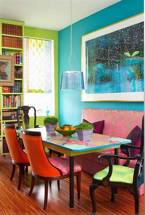 Colorful Rooms by Bright Dining Room With Orange Ack Chairs Colorful Tale