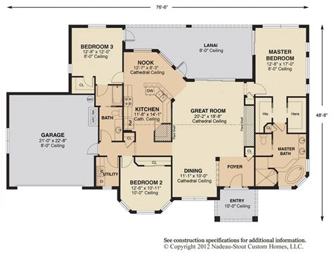 great room house plans one antigua signature floor plan nadeau stout custom homes