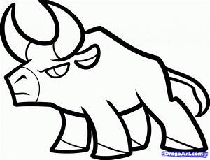 Cool Easy Drawings For Kids How To Draw A Bull For Kids ...