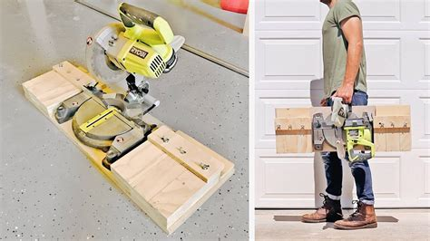 diy portable miter  stand station shop projects
