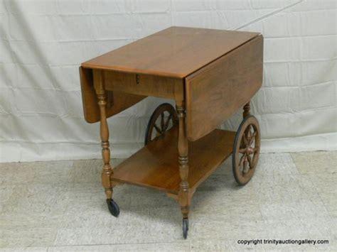 ethan allen maple tea cart early american  trinity