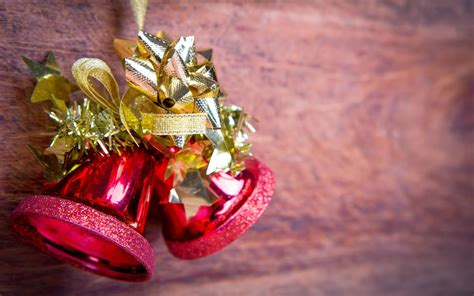 christmas jingle bells images with holly ribbon decorations photos free hd wallpapers