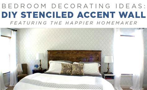 diy bedroom makeover ideas bedroom decorating ideas diy stenciled accent