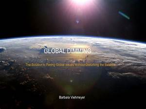 Ppt - Global Dimming Powerpoint Presentation