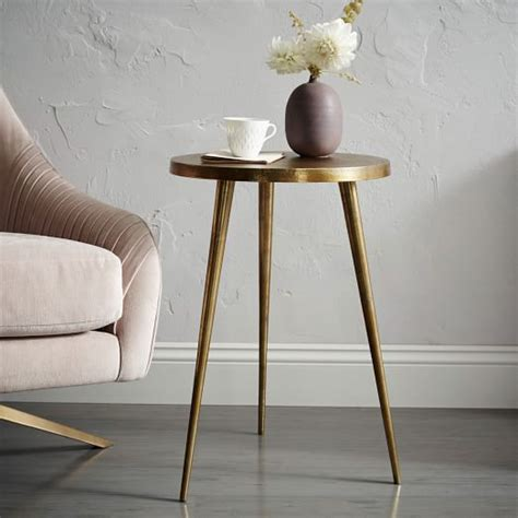 west elm side table cast tripod side table west elm