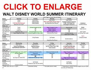 New Summer Itinerary For Walt Disney World Released