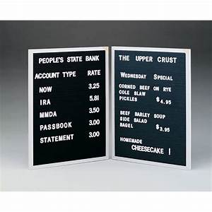 Open face changeable letter boards for Open face changeable letter boards