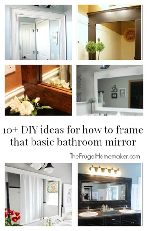 diy bathroom mirror ideas how to frame out that builder basic bathroom mirror for