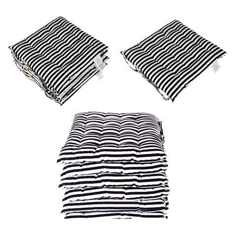 seat pads for dining chair black and white cotton garden