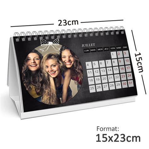 calendrier photo personnalisé de bureau 15x23cm