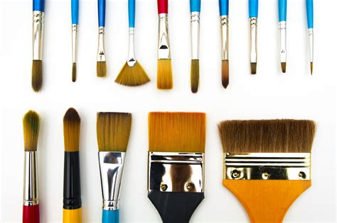 types  shapes  art paintbrushes
