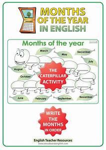 Months In English  U2013 The Caterpillar Activity