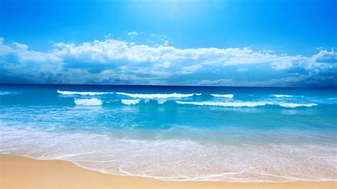 small sea wave sand ocean summer sun vacation
