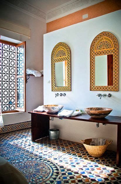 moroccan bathroom ideas  pinterest moroccan
