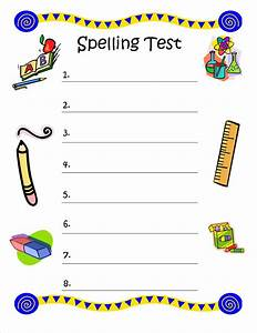 bunch of bishops spelling test free printable With free printable spelling test template