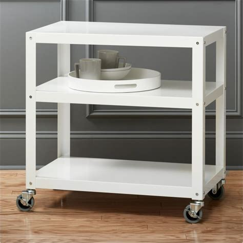 go cart white kitchen rolling cart   Reviews   CB2