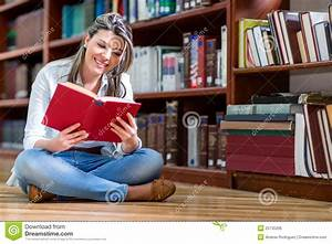 Woman Reading At The Library Royalty Free Stock Image ...