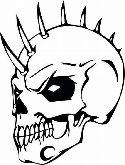 Badass Skull Drawings Coloring Printable Books Adults