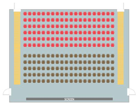 Theatre Style Seating Plan Template by Seating Plans Solution Conceptdraw