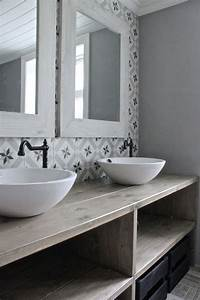Carreaux De Ciment Salle De Bain : salle de bain carreau ciment salle de bain pinterest ciment salle de bains et salle ~ Teatrodelosmanantiales.com Idées de Décoration