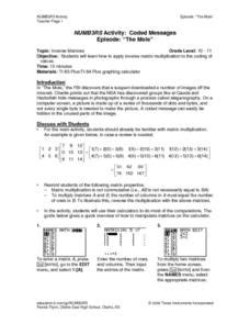 encryption lesson plans worksheets reviewed by teachers