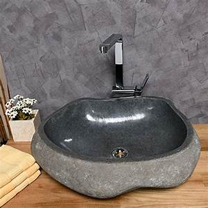 Aufsatzwaschbecken 60 Cm : wohnfreuden naturstein waschbecken 60 cm poliert stein aufsatzwaschbecken f r g ste wc bad ~ Indierocktalk.com Haus und Dekorationen