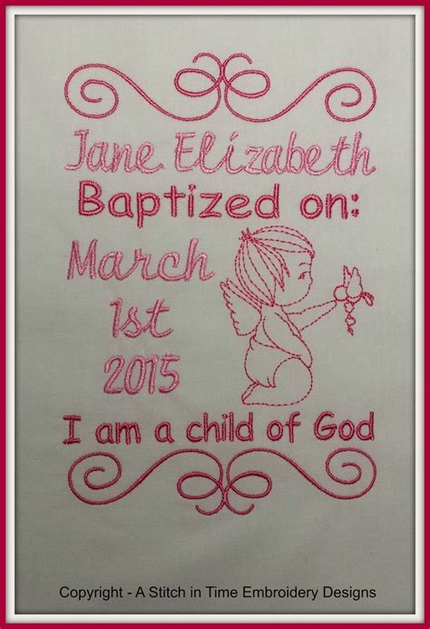 baptism announcement template  stitch  time