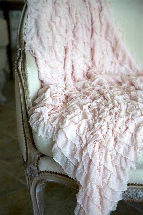 soft ruffled throw blanket    shabbyfufu