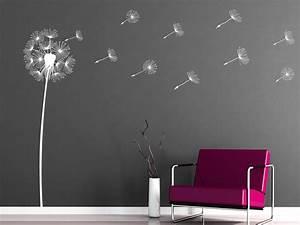 Wandtattoo Pusteblume Weiß : wandtattoo stilvolle pusteblume ~ Frokenaadalensverden.com Haus und Dekorationen