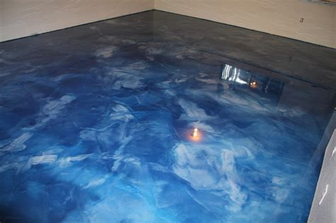 Metallic Epoxy Basement Floor   Contemporary   Seattle