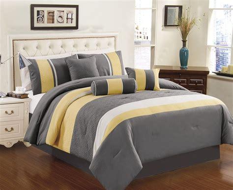 Yellow Grey White Simple Modern Bedding Sets