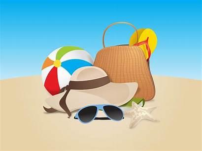 Beach Vector Graphics Cartoon Clipart Clip Summer