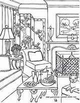 Coloring Living Inside Adult Adults Rooms Worksheet Printable Colouring Furniture Desenhos Interior Cool Victorian Pintura Pepe Relaxing Cat Pew Imprimir sketch template