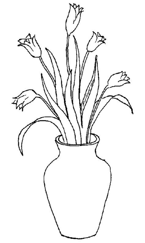 Bloemenvaas Kleurplaat by Nederland Kleurplaten Vaas Met Tulpen
