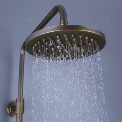 traditional antique brass   shower head hand shower