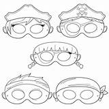 Pirate Mask Printable Masks Coloring Pirates Costume Paper Diy Boy Captain Costumes Crafts Masque Cut Pdf Sea Masques Swashbuckler Template sketch template