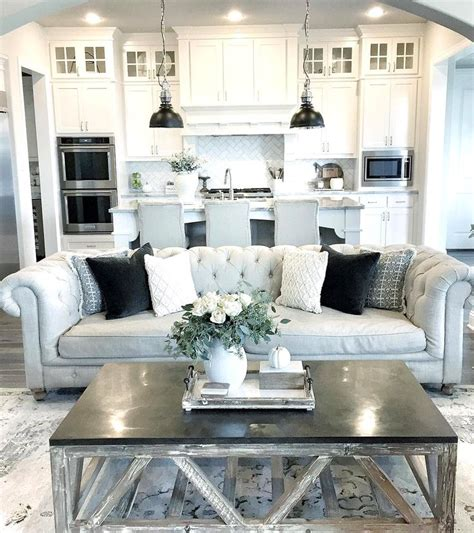 Decorating Ideas For Open Living Room And Kitchen - 26 kitchen living room ideas open plan kitchen living room ideas dgmagnetscom