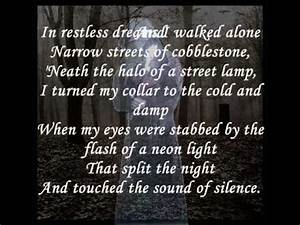 Gregorian ~ Sound Of Silence with lyrics [HQ] - YouTube