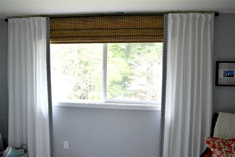 bamboo shades with sheer curtains curtain menzilperde net