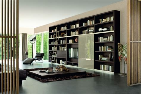 Living Room With Bookcases Ideas by Bookshelf