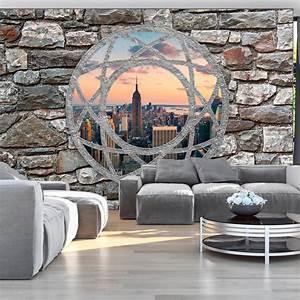 Mauer Wand Wohnzimmer : vlies tapete top fototapete wandbilder xxl 400x280 ~ Lizthompson.info Haus und Dekorationen