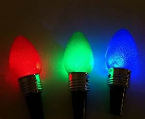 Lighted Wine Bottle Stoppers Lighted Holiday Bulb Wine Bottle Stoppers