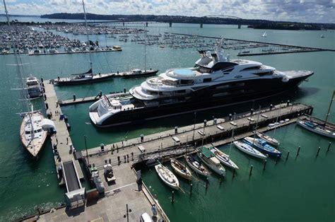 134m super yacht SERENE docked in Auckland's Silo Marina ...
