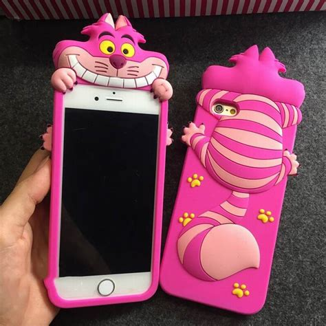 Pink 3d Cheshire Cat Soft Iphone Case For Iphone 5s 6