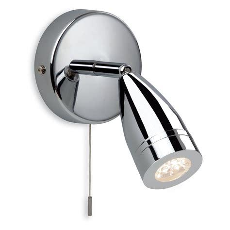 contemporary polished chrome led bathroom wall spotlight