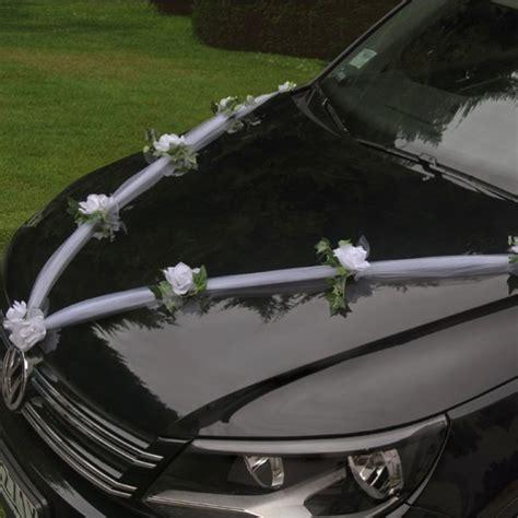 guirlande de tulle pour decoration de voiture mariage